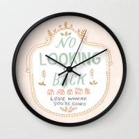 No Looking Back Wall Clock