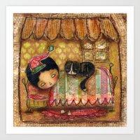 Sleep Tight My Darling One Art Print