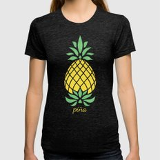 Pineapple Womens Fitted Tee Tri-Black SMALL