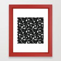 Black & White Floral Framed Art Print