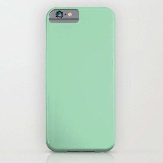 Turquoise green iPhone & iPod Case