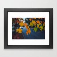 Fall Walks Framed Art Print