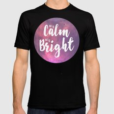Calm & Bright Mens Fitted Tee SMALL Black