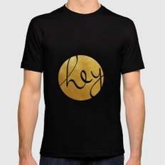 Hey, stranger! Black SMALL Mens Fitted Tee