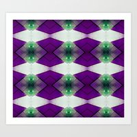 Purple Diamonds Art Print