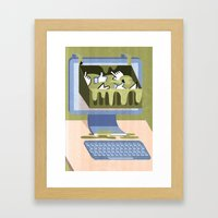 The Internet: A Wastelan… Framed Art Print