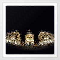 Bordeaux La Nuit Art Print
