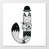 J is for Jackal! Canvas Print