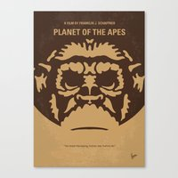 No270 My PLANET OF THE APES minimal movie poster Canvas Print