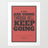 'If You Are Going Throug… Art Print