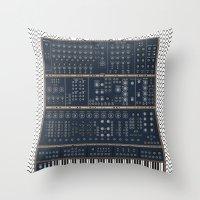 Modular Synth Throw Pillow