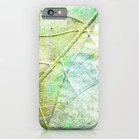 iPhone & iPod Case featuring Green Painted Leaf by Kokabella