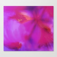 Pink flower ~ Abstract Canvas Print