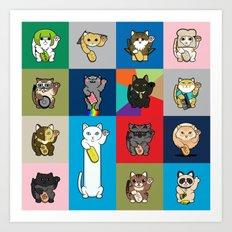 Lucky Cats - LOLcats Art Print
