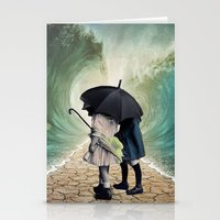 waves Stationery Cards featuring Waves by Cs025