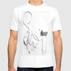 Your Entertainment  SMALL White Mens Fitted Tee