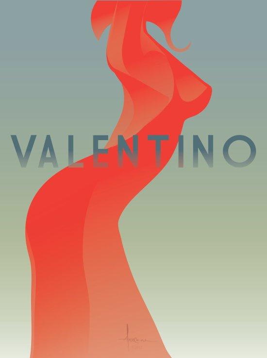 HOMAGEtoFASHION_Valentino Art Print