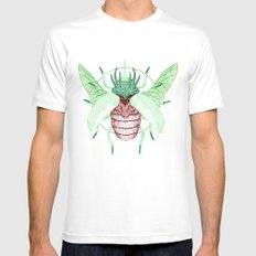 Thorned Atlas Beetle Mens Fitted Tee White SMALL