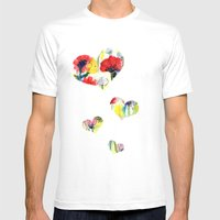 Poppy Floral Mens Fitted Tee White SMALL