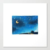 200 Tiny Painted Places - No. 27 Canvas Print