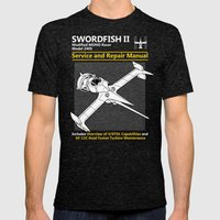 Swordfish Service And Re… Mens Fitted Tee Tri-Black SMALL