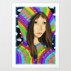 Anime Pop Rainbows Art Print