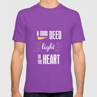 A Good Deed Brings Light… Mens Fitted Tee Ultraviolet SMALL