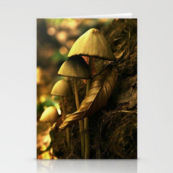 Magic mushroom family Stationery Card