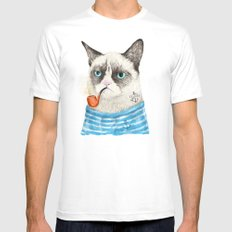 Sailor Cat I Mens Fitted Tee SMALL White
