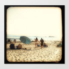 Beach Couple Canvas Print