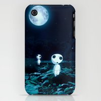 iPhone 3Gs & iPhone 3G Cases featuring Princess Mononoke (Kodam) by pkarnold