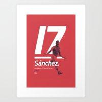 Sanchez 17 Arsenal  Art Print