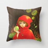 Poison Apple & A Little Red Hood Throw Pillow