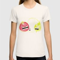Attack of the Killer Caprese Womens Fitted Tee Natural SMALL