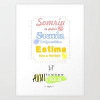 {CAT} SOMRIU · SOMIA · ESTIMA Art Print