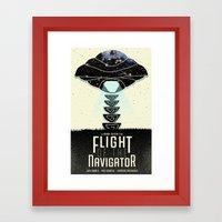 Alternate Movie Poster: Flight of the Navigator  Framed Art Print