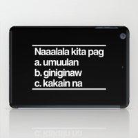 Naaalala Kita iPad Case