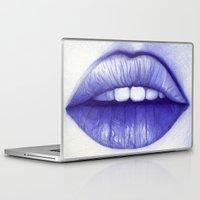 lips Laptop & iPad Skins featuring LIPS by Belén Diz Juncal