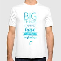 Big Things Mens Fitted Tee White SMALL
