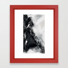 Silver-score [Digital Figure Illustration] Framed Art Print
