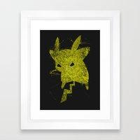 Yellow Monster Framed Art Print