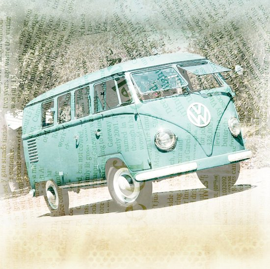 going up the country _ VW Kombi Canvas Print