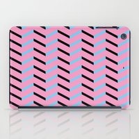 Blue And Black Chevron O… iPad Case