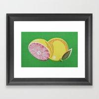 Fruitopia Pamplemousse Framed Art Print