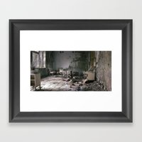 Chernobyl - дім Framed Art Print