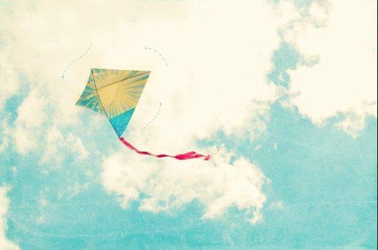 Our Heart is Like a Kite Art Print