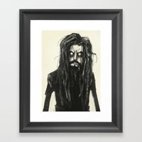 Rob Zombie Framed Art Print