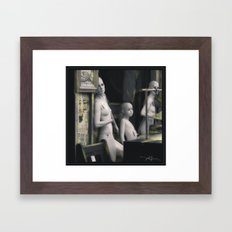 Out Of Work Framed Art Print