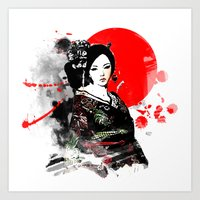 Kyoto Geisha Japan Art Print
