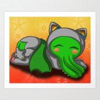 Sleepy Cthulhu Art Print
